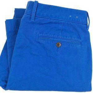 J. Crew Blue Flat Front Chino Khaki Pants Sz 33x30
